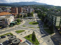 Kružni tok u centru Loznice - Trg Vuka Karadžića